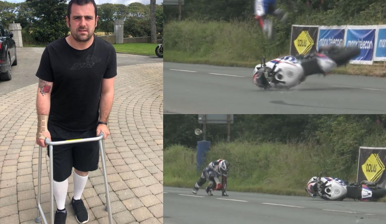 Michael Dunlop se fractura la pelvis en una espectacular caída en la Isla de Man