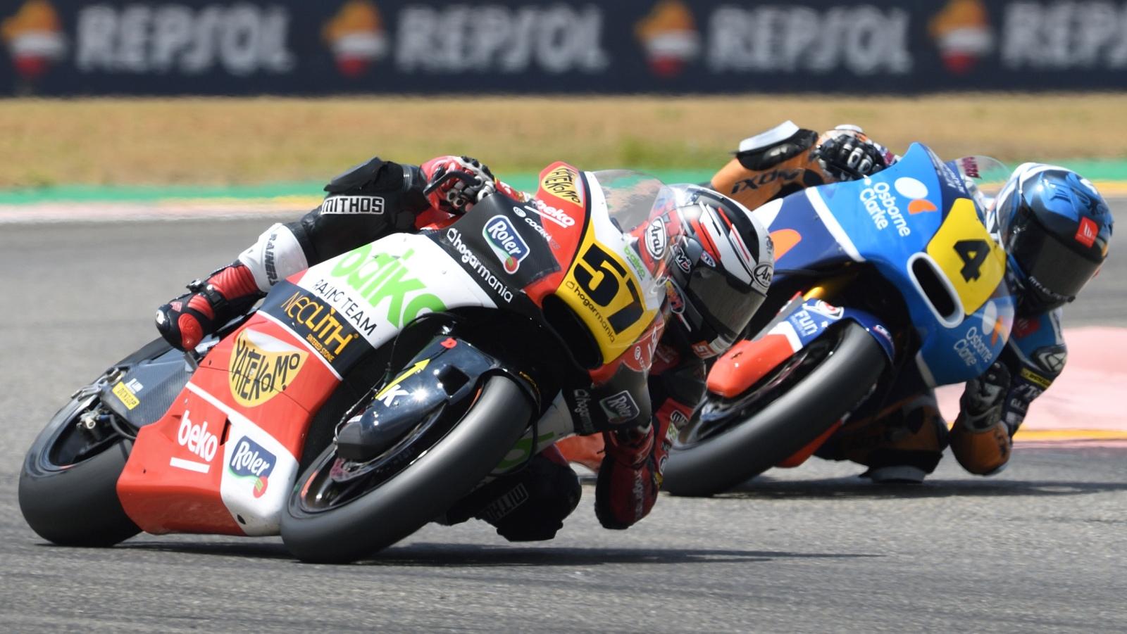 Héctor Garzó se impone en mojado y Edgar Pons en seco para ser más líder de Moto2