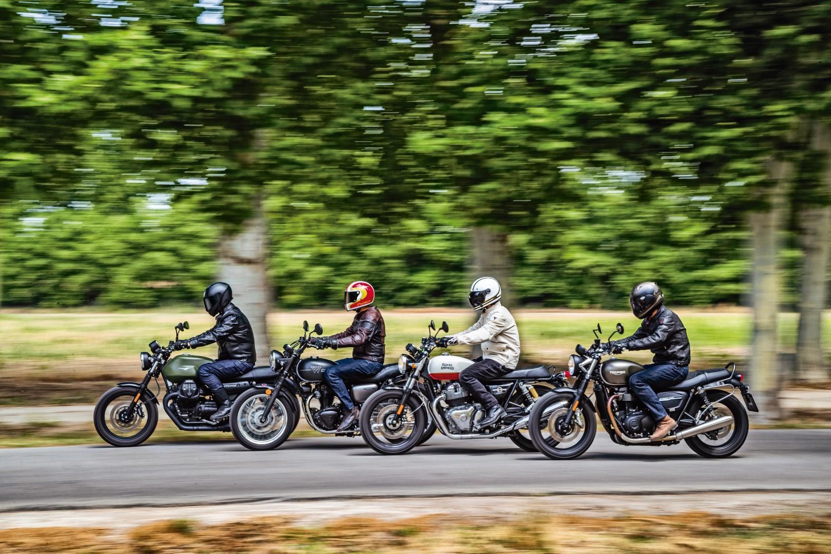 Comparativa retro: Kawasaki W800 Street, Moto Guzzi V7 III Stone, Royal Enfield Interceptor 650, Triumph Street Twin