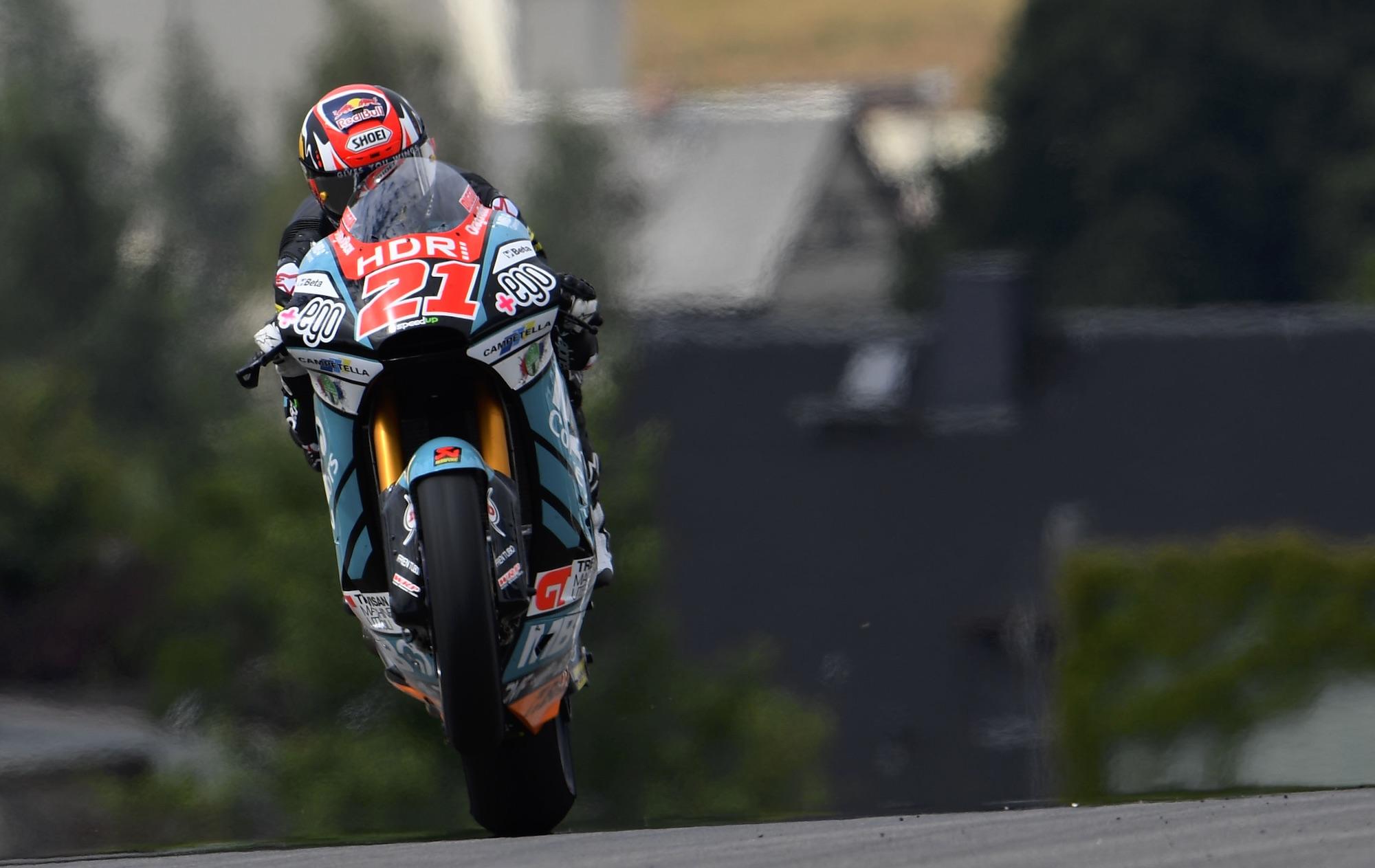 Fabio Di Giannantonio termina el viernes como el más rápido de Moto2