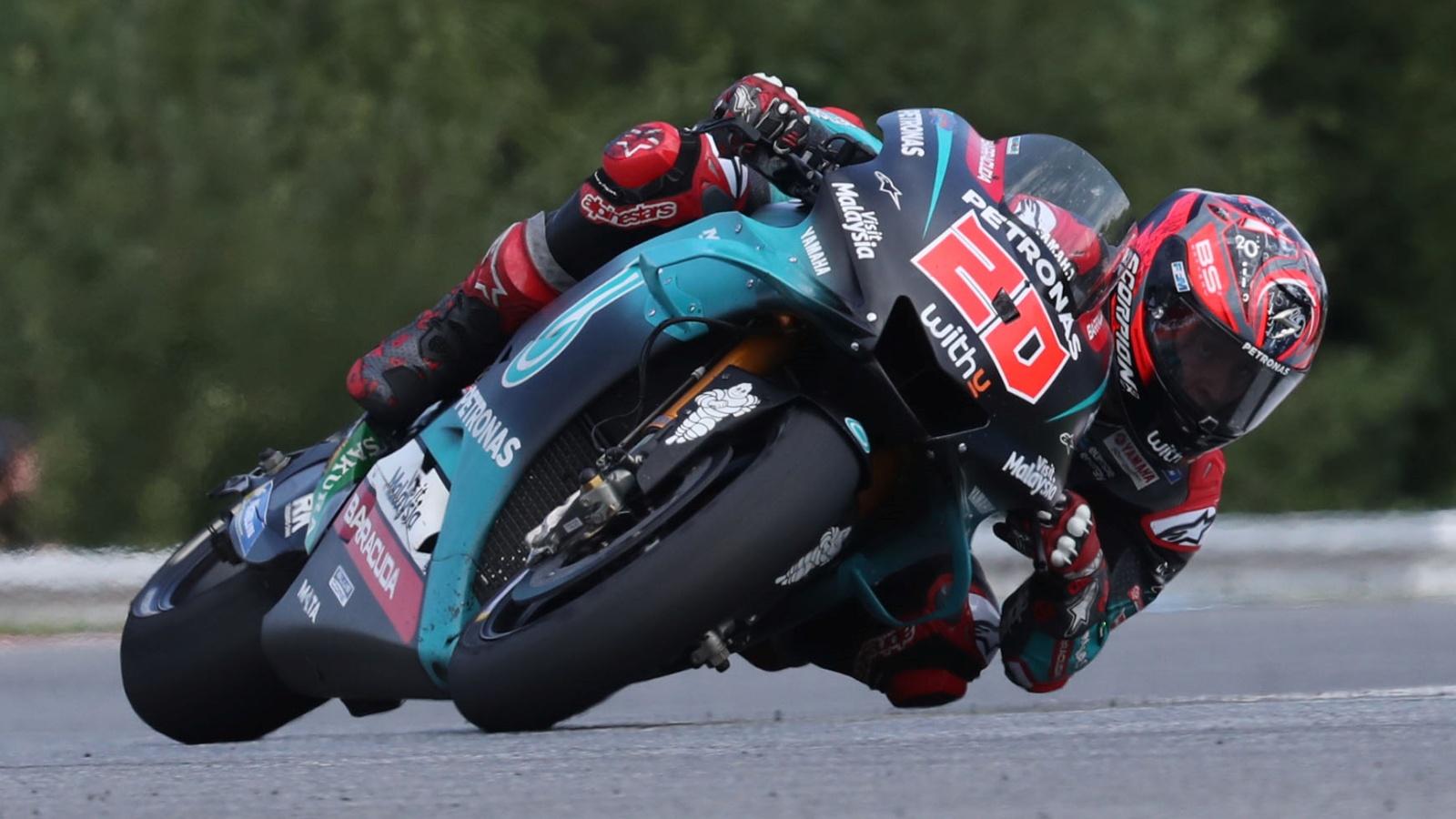 Fabio Quartararo lidera el triplete de Yamaha en el test oficial de MotoGP en Brno