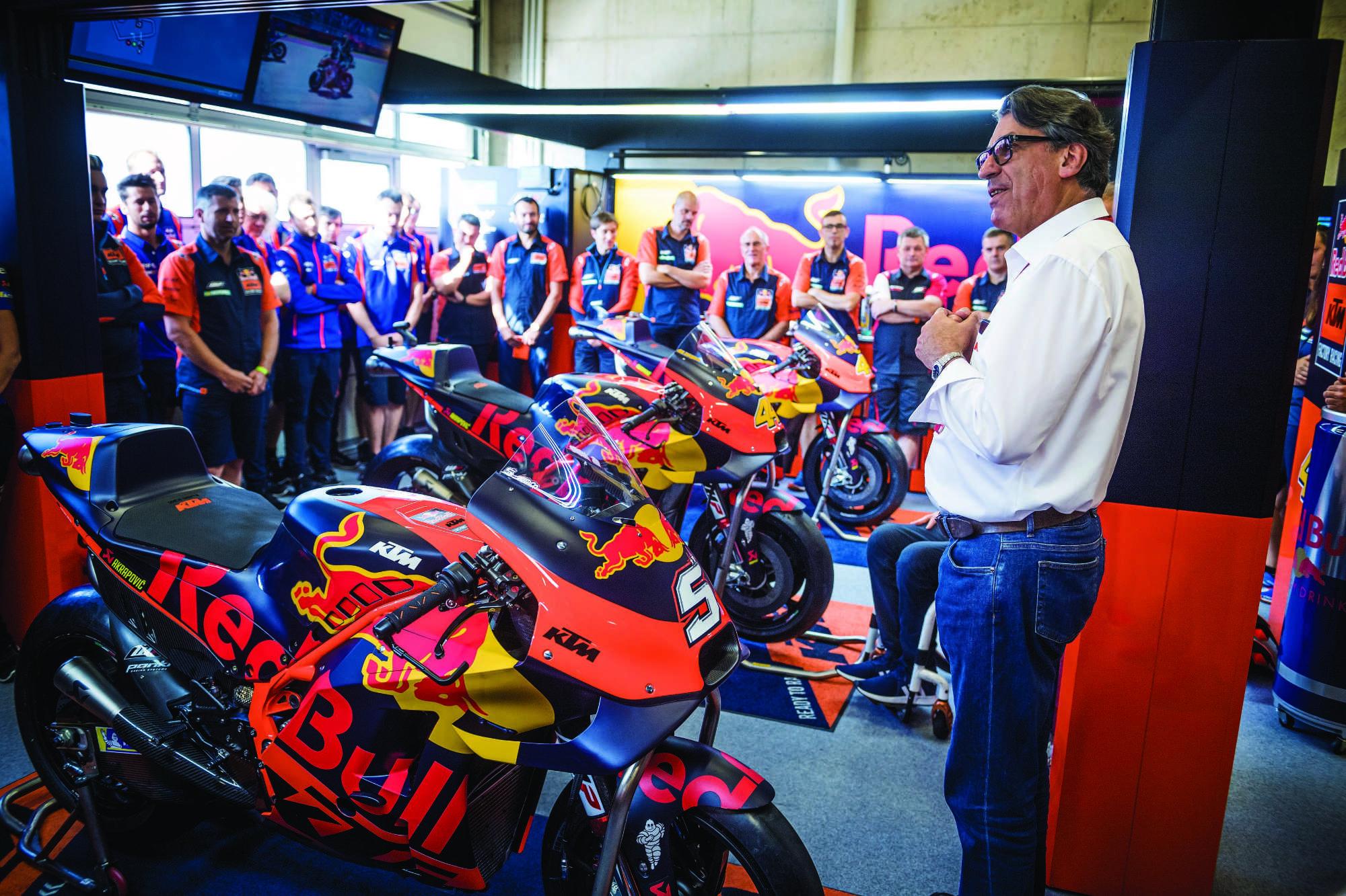 KTM cancela su proyecto de Moto2 y se reorganiza para el futuro