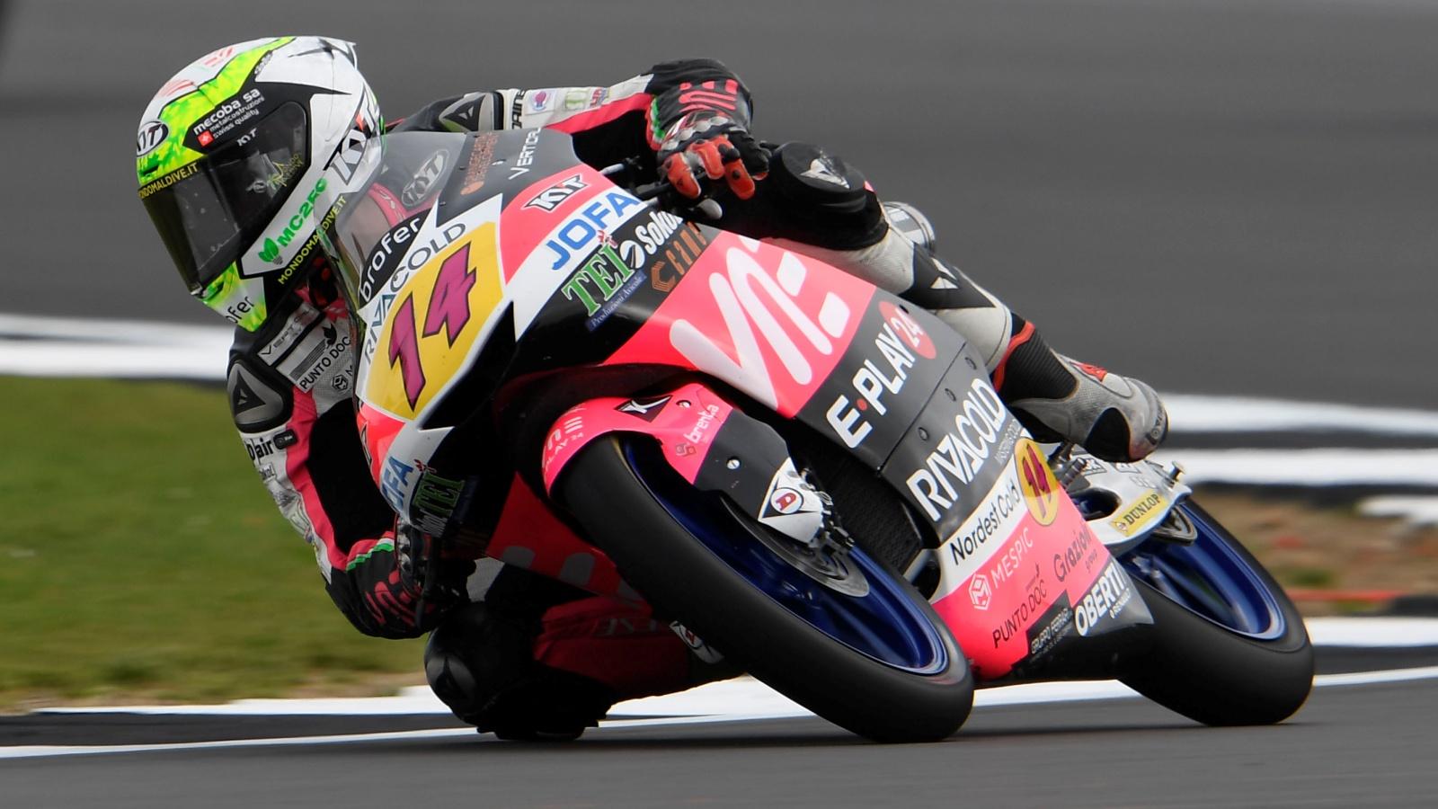 Tony Arbolino se lleva la pole de Moto3 tras pulverizar tres veces el récord de Silverstone
