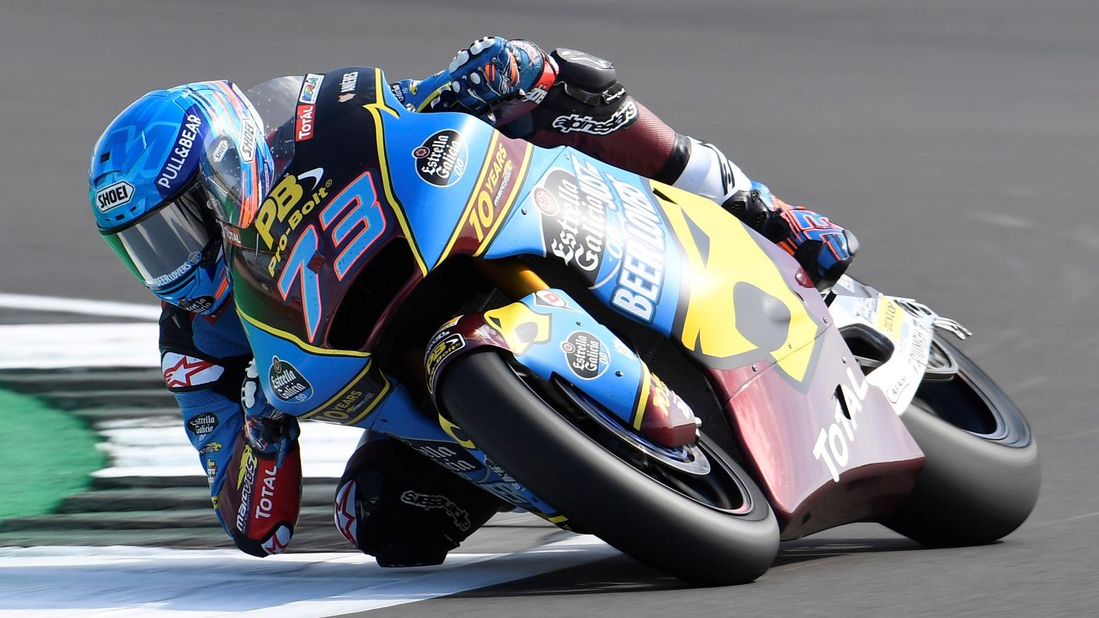 Pole de Álex Márquez en Silverstone con triplete español en la primera fila de Moto2