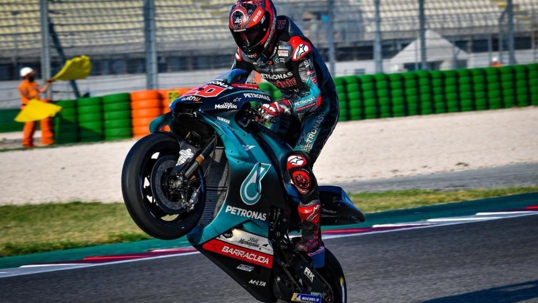 Fabio Quartararo arrasa en el test de Misano y Dani Pedrosa ilusiona en KTM
