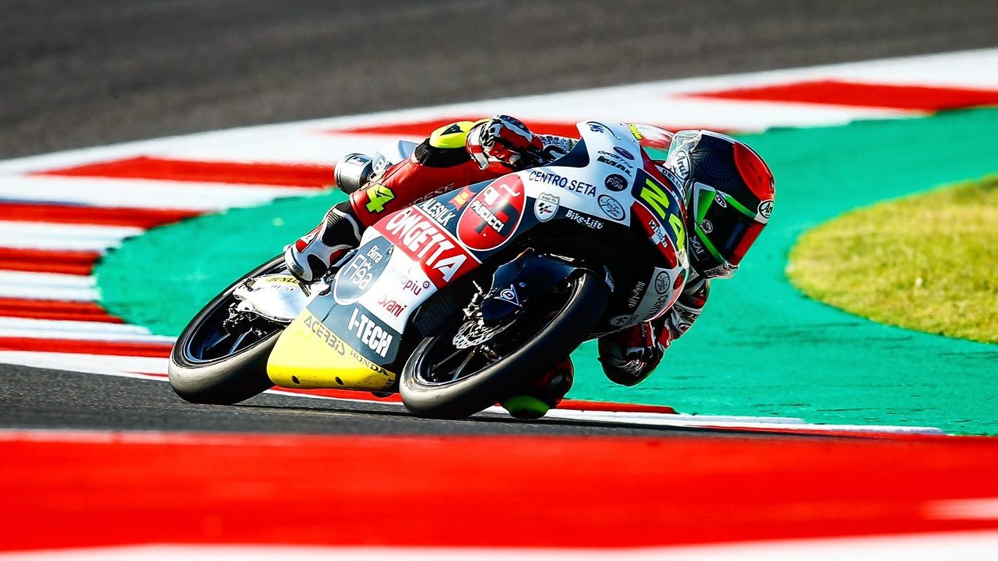 Tatsuki Suzuki logra su primera victoria en una carrera loca de Moto3 en Misano