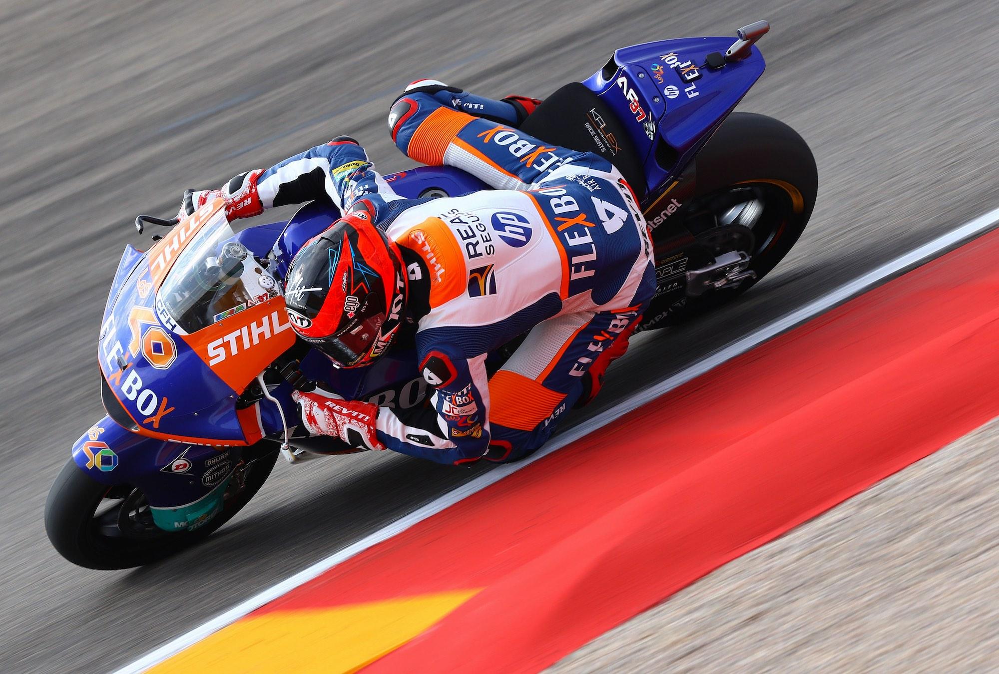 Mejor tiempo de Augusto Fernández en Moto2, Márquez quinto