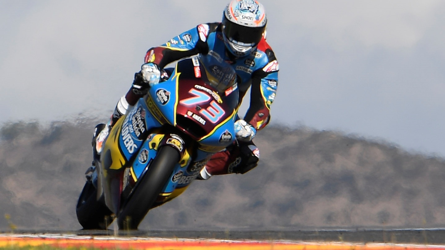 Álex Márquez hace la pole de Moto2 en Aragón con Augusto Fernández detrás