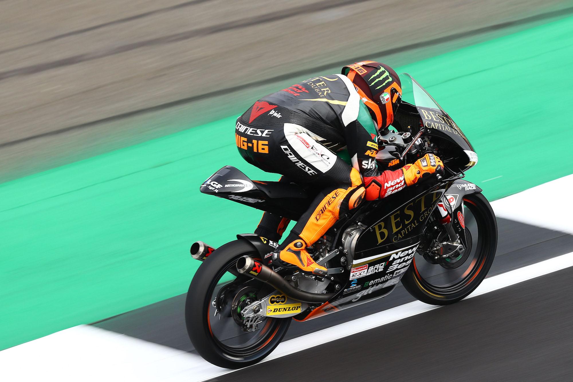 Andrea Migno y Gabri Rodrigo, referencias de Moto3 en los primeros libres de Tailandia