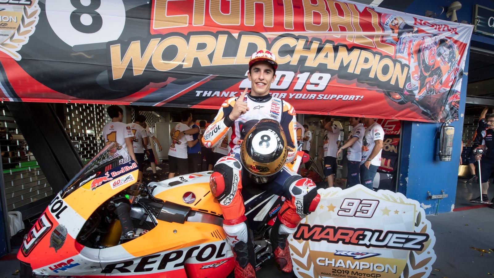 Marc Márquez pone el 51º título mundial en el palmarés de España