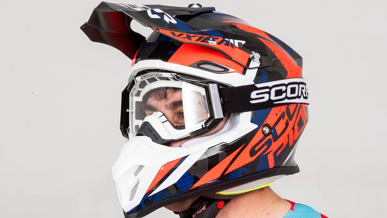 Casco Scorpion VX 16, prueba
