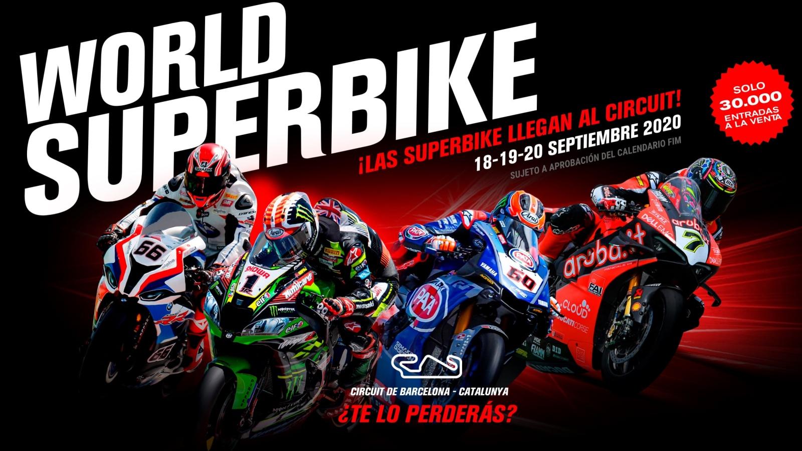 El Mundial de Superbike 2020 llegará al Circuit de Barcelona-Catalunya