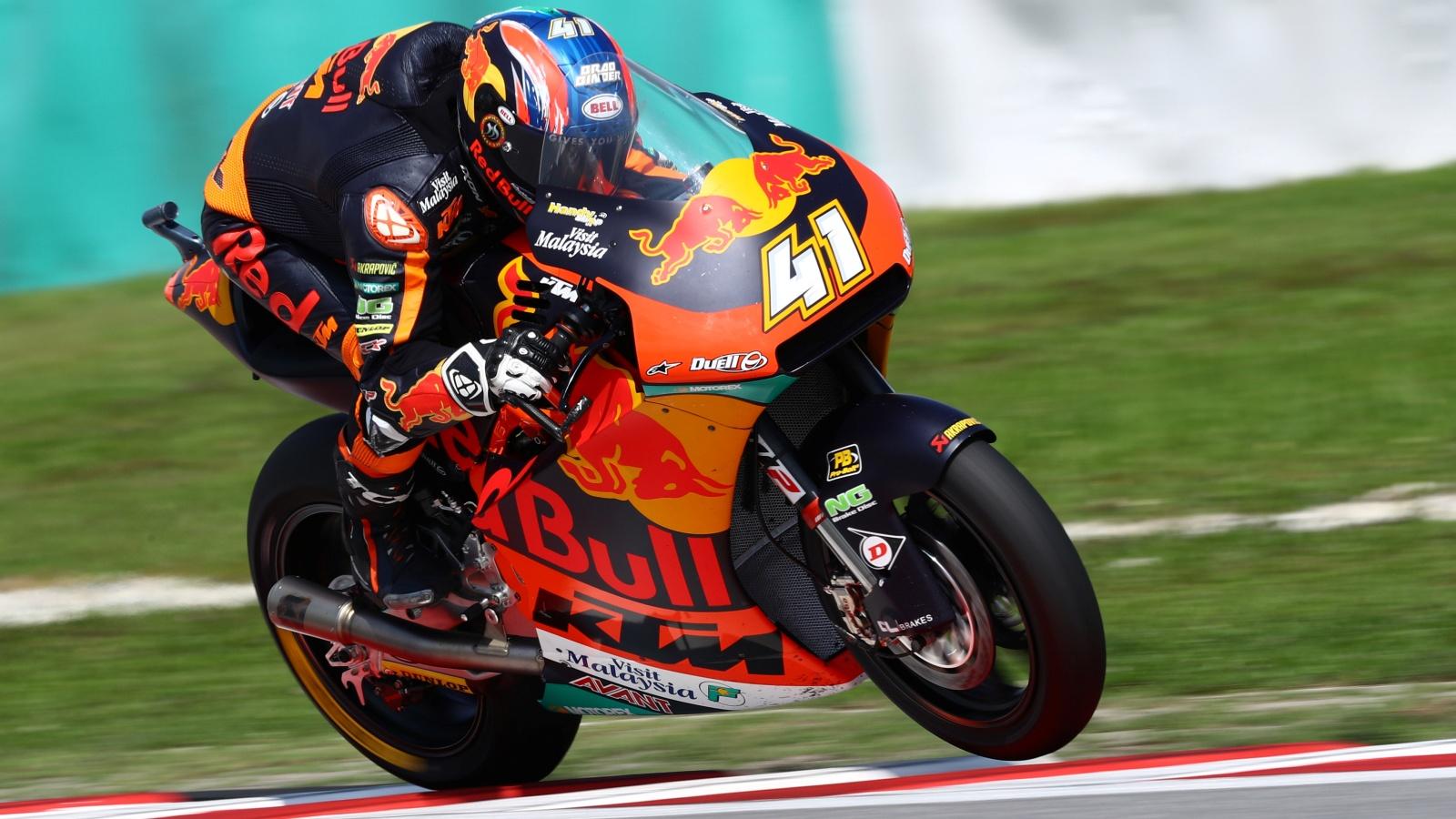 Brad Binder se lleva la victoria de Moto2 en la fiesta del título de Álex Márquez