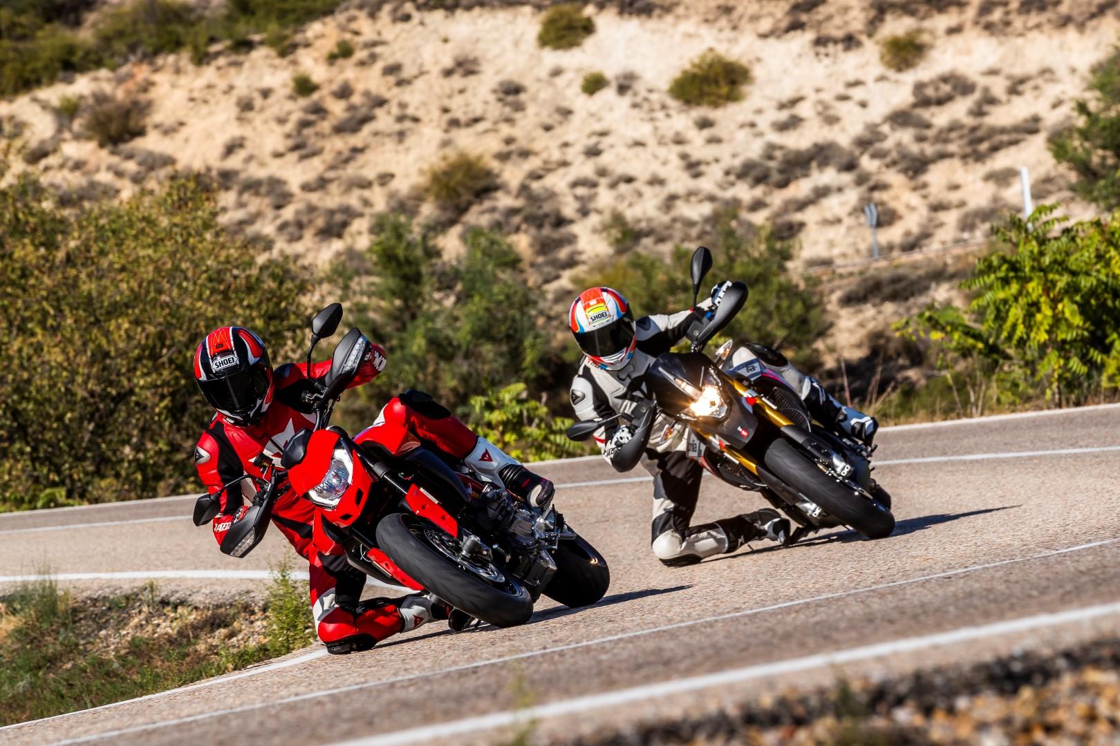 Cuerpo a Cuerpo Aprilia Dorsoduro 900 - Ducati Hypermotard 950