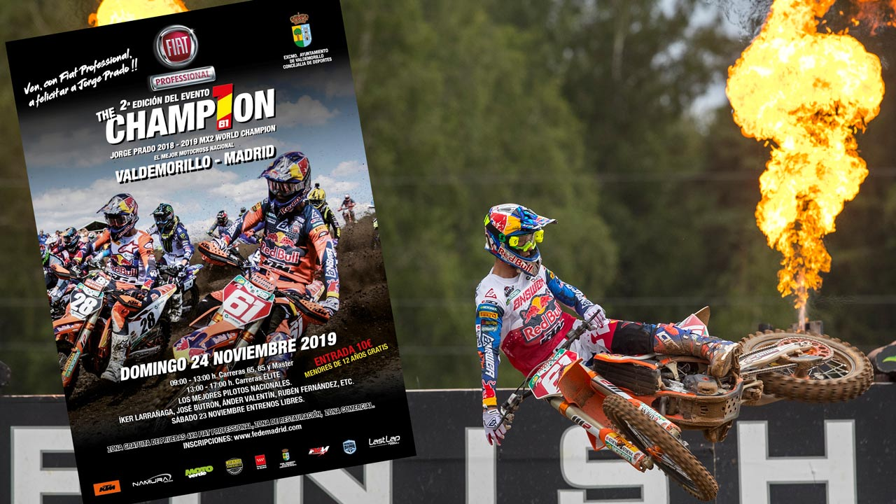 The Champ1on, carrera y celebración de los títulos de Jorge Prado