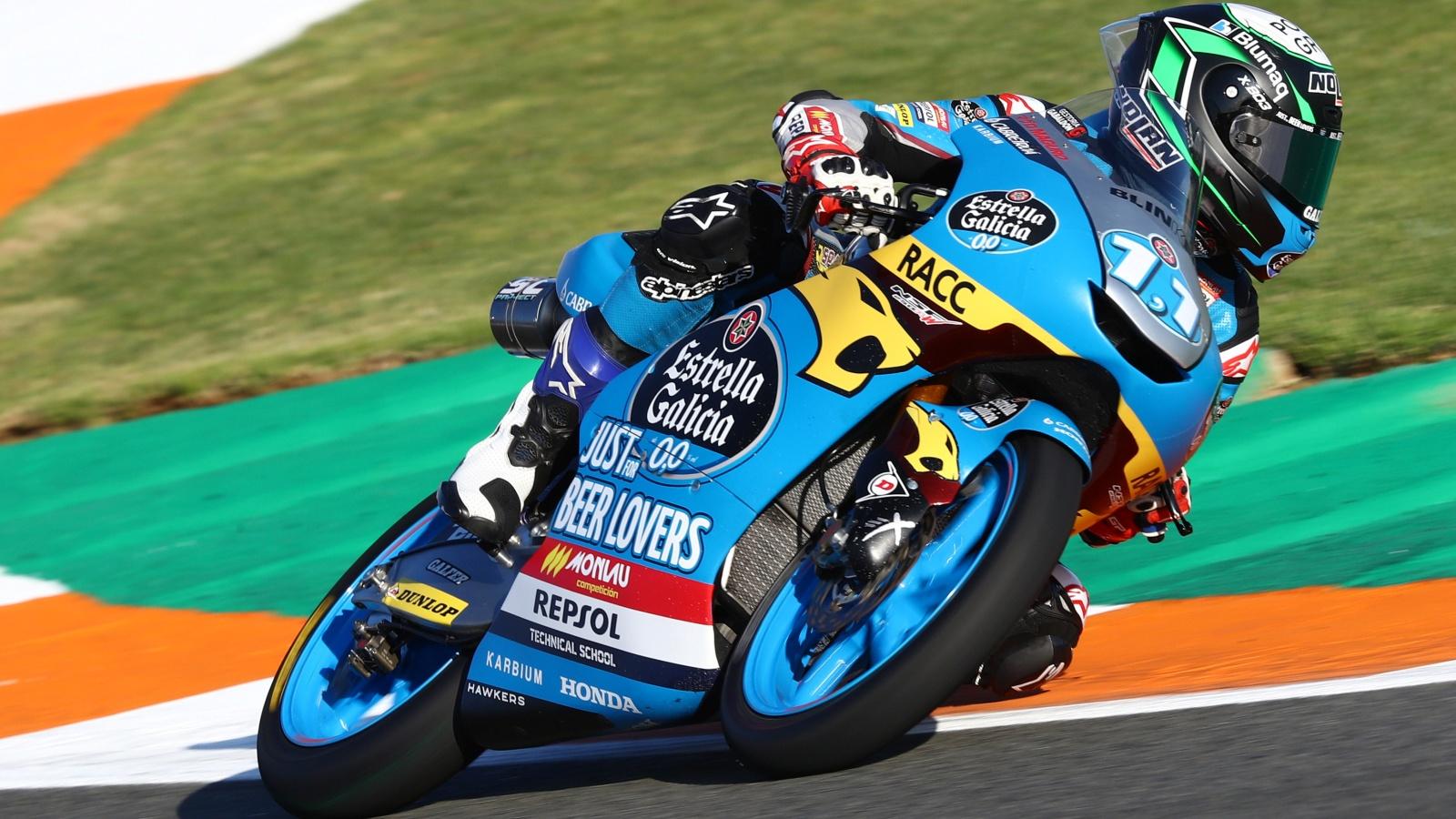 Sergio García logra su primera victoria en Valencia y Xavi Artigas hace podio en su debut en Moto3