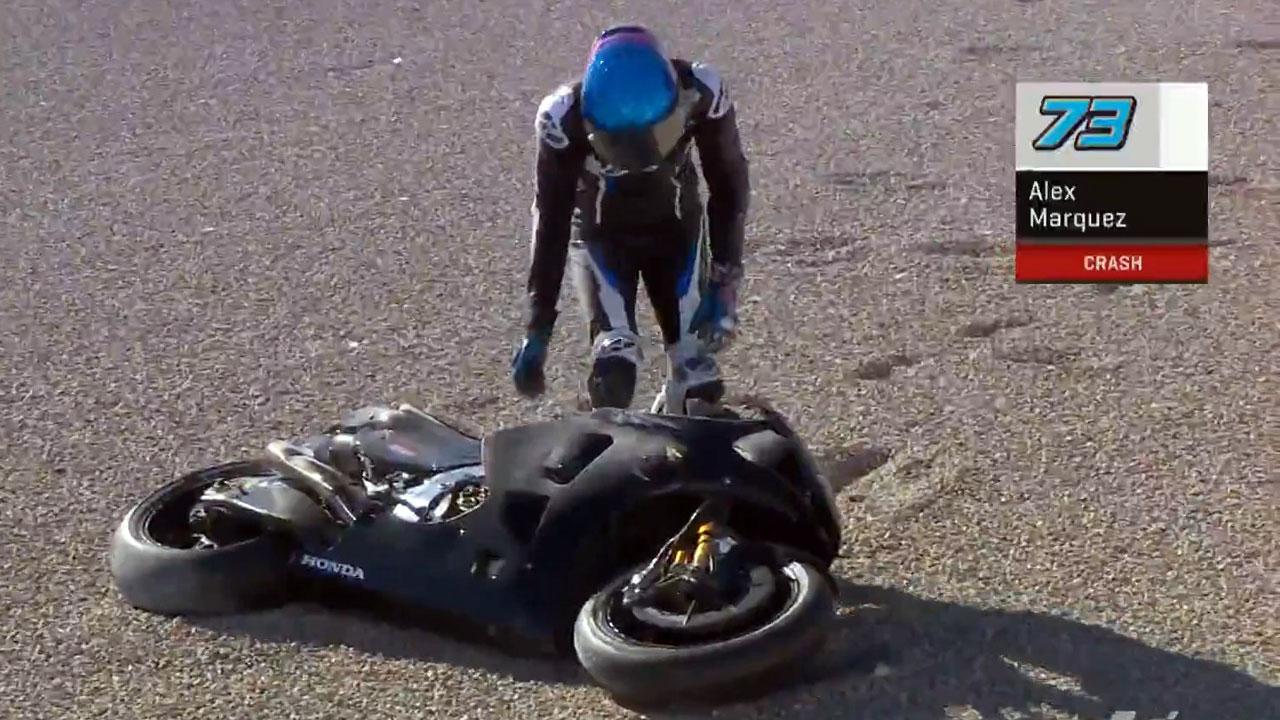 Álex Márquez debuta en MotoGP con caída (Video)