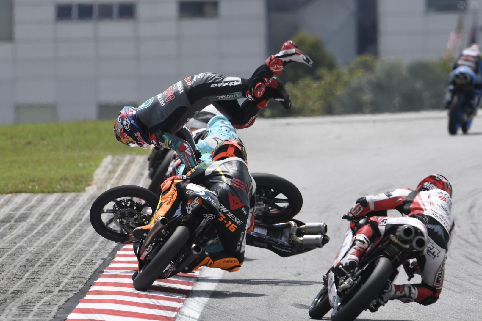 MotoGP 2019: con menos lluvia hay menos caídas