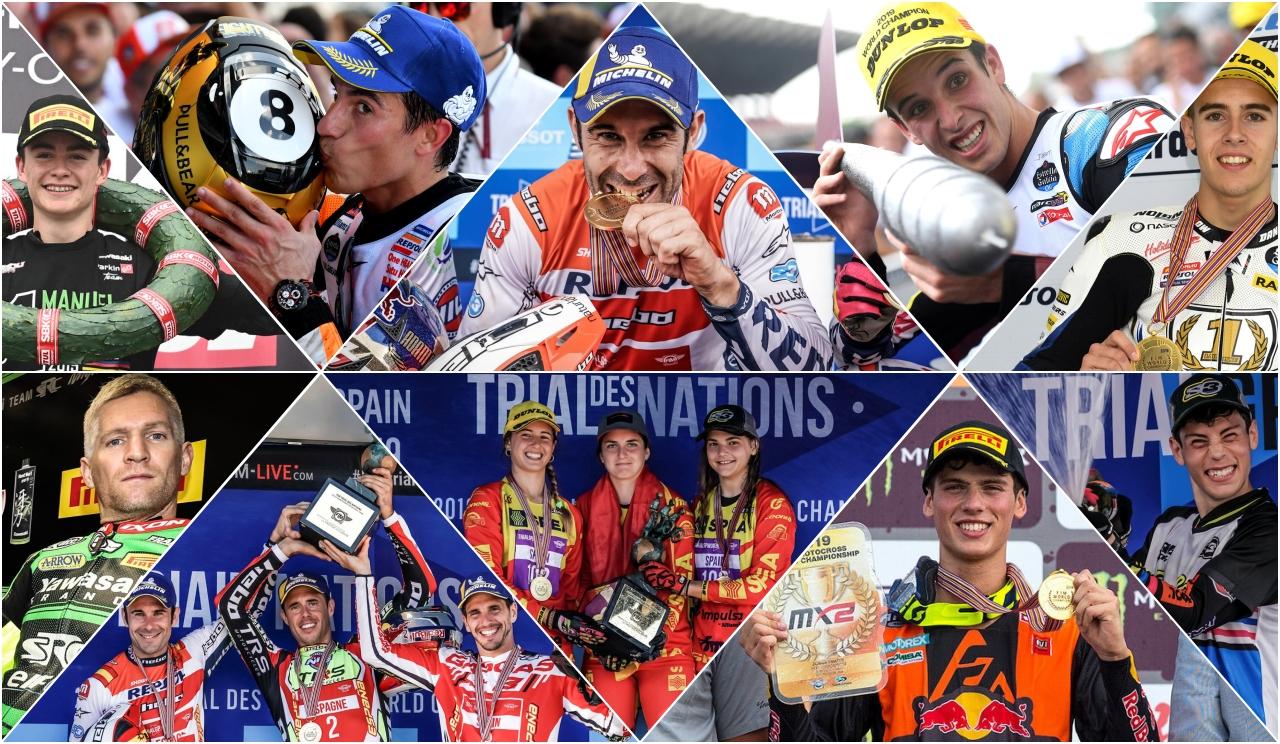 España es el país más laureado del motociclismo en 2019 con once títulos mundiales