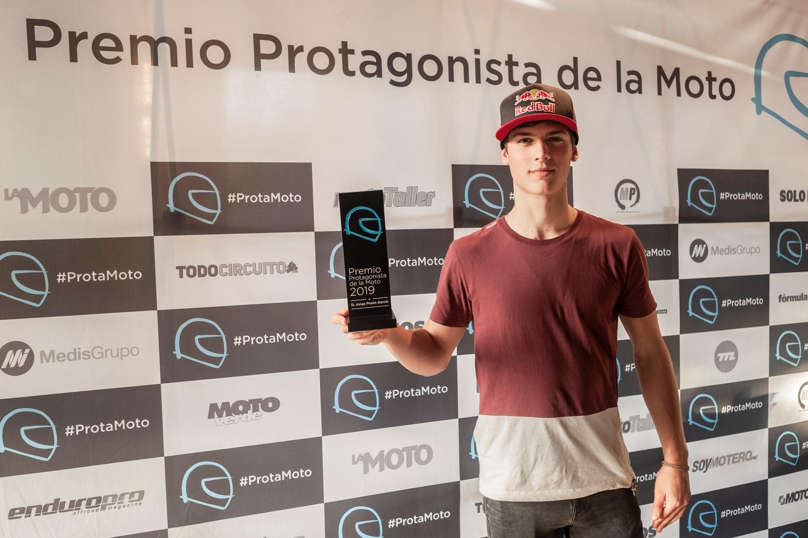 Jorge Prado, ganador del premio 'Protagonista de la Moto' 2019