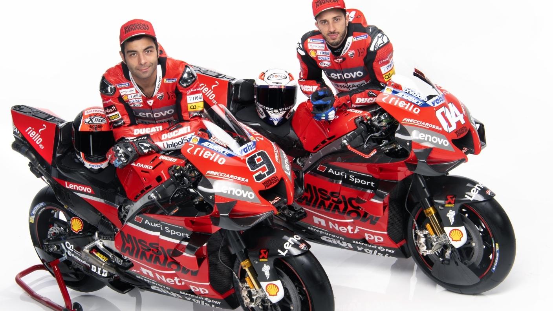 La Ducati Desmosedici GP20 de Andrea Dovizioso y Danilo Petrucci para MotoGP 2020