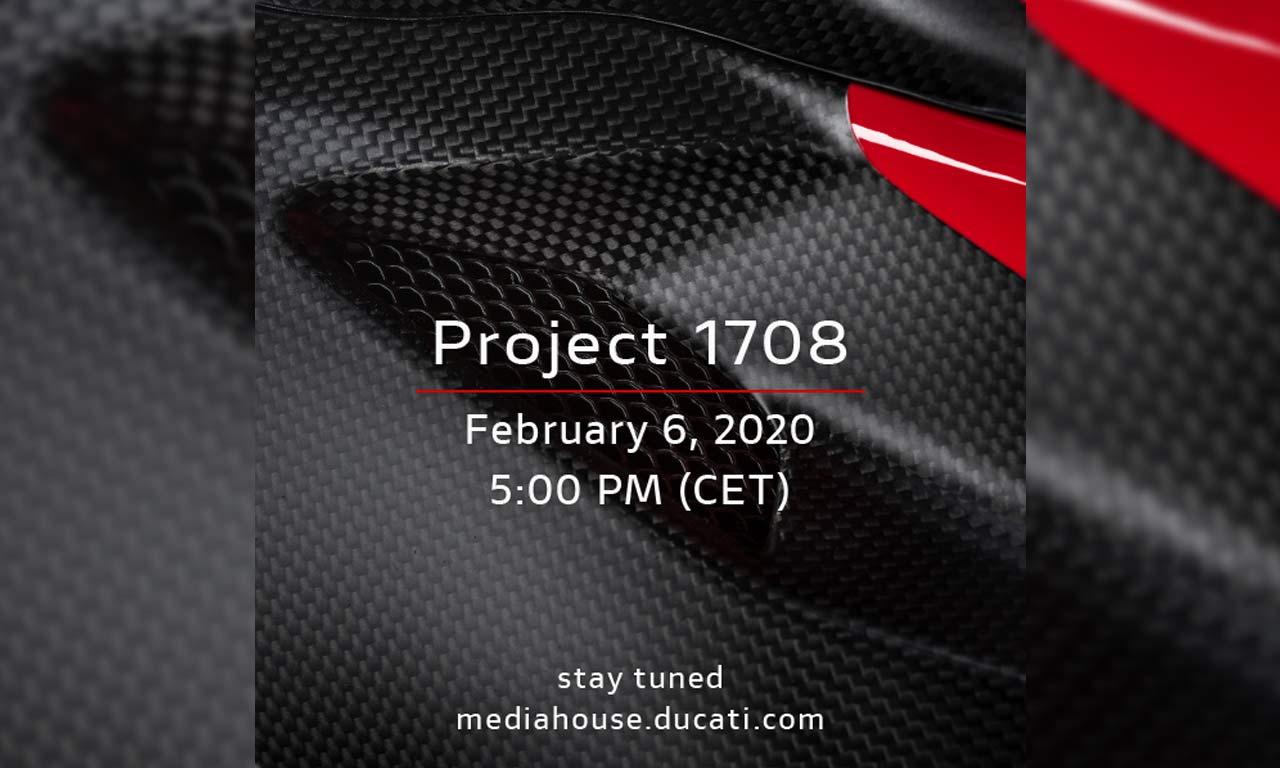 Project 1708, posiblemente la Ducati V4 Superleggera, se presentará el próximo jueves