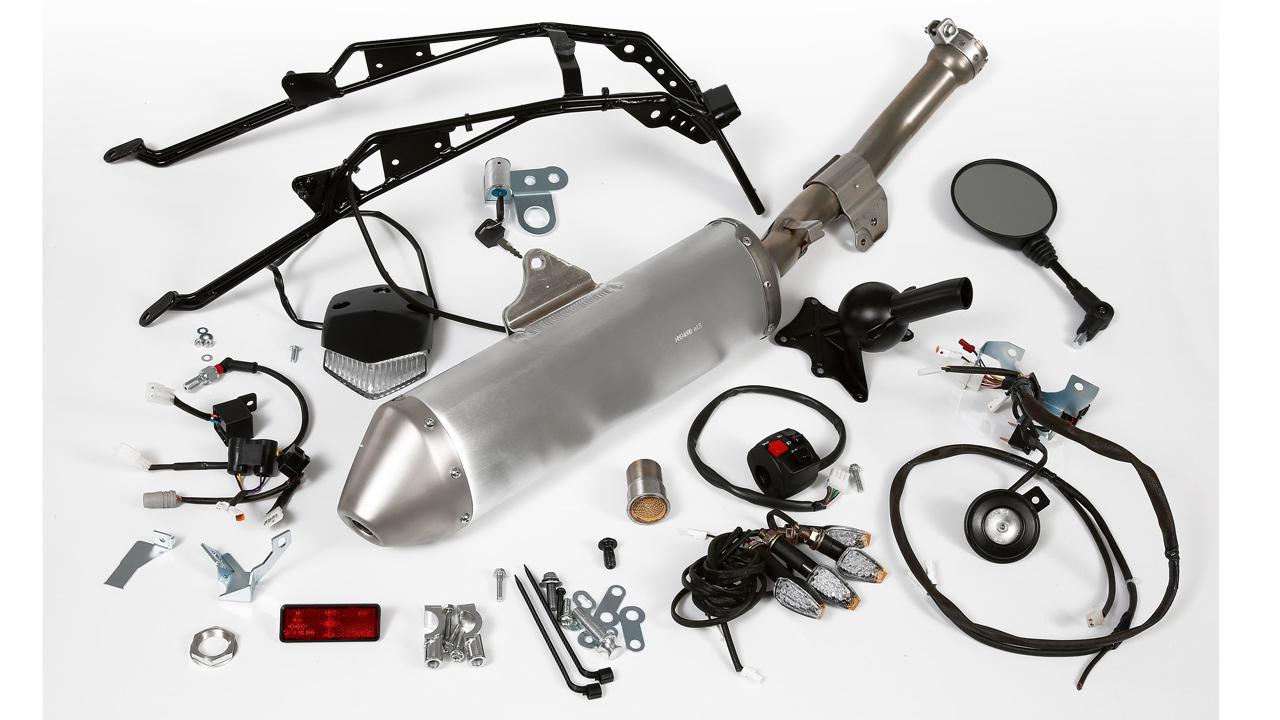 Así es un kit homologación de moto off road