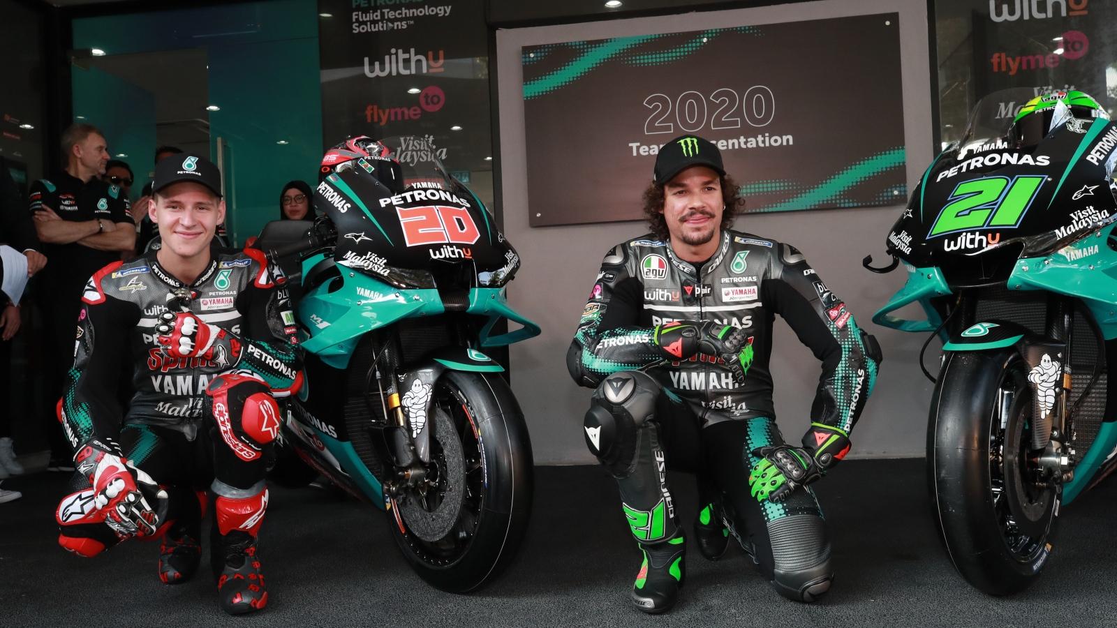 La Yamaha YZR-M1 Petronas para MotoGP 2020 de Fabio Quartararo y Franco Morbidelli