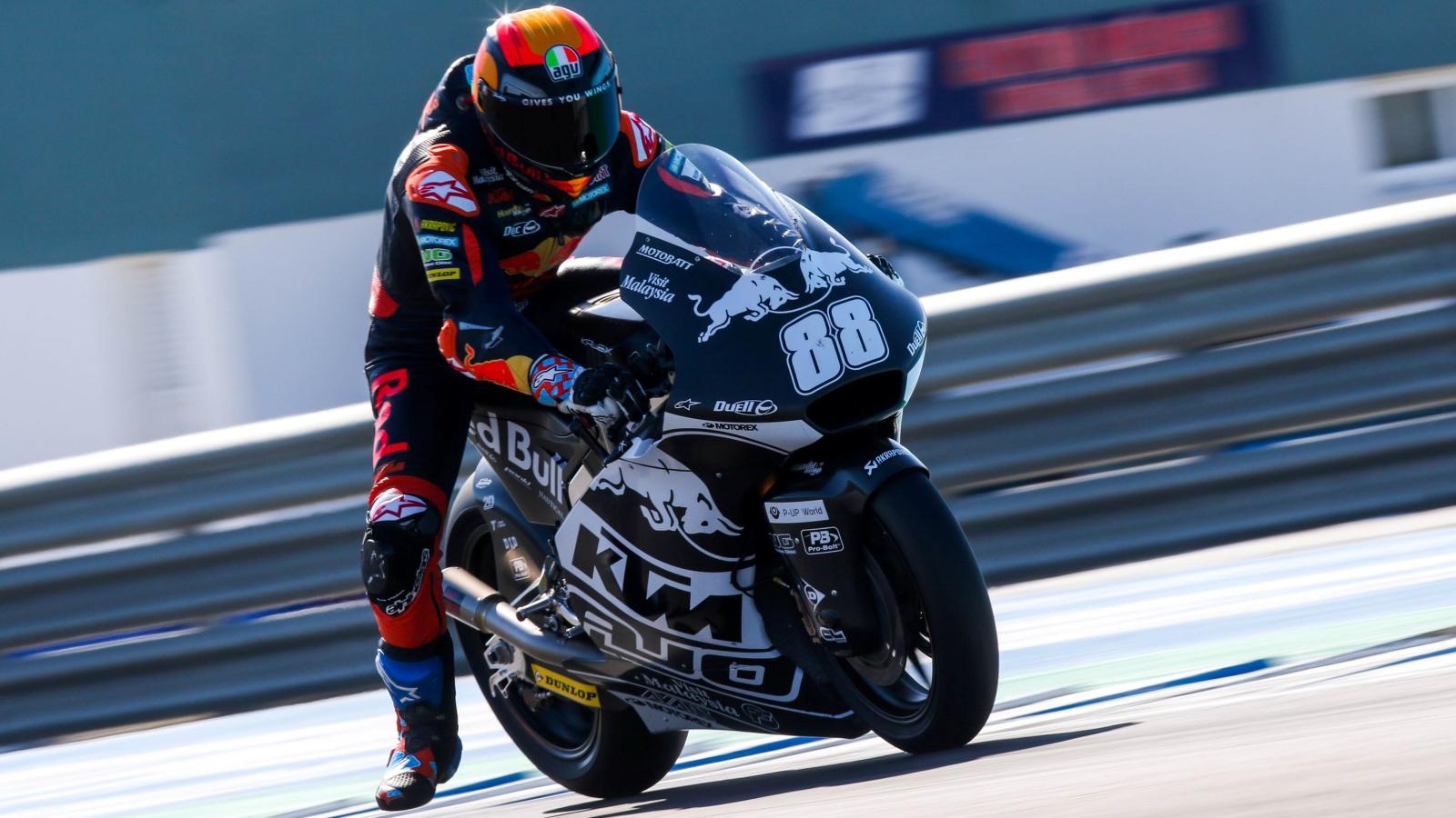 Jorge Martín lidera Moto2 y Sergio García Moto3 en el primer día de test privados en Jerez