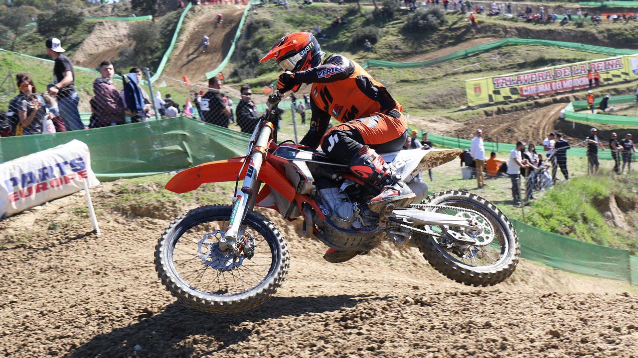 Brian Bogers y Rubén Fernández se imponen en el Nacional de Motocross en Talavera de la Reina