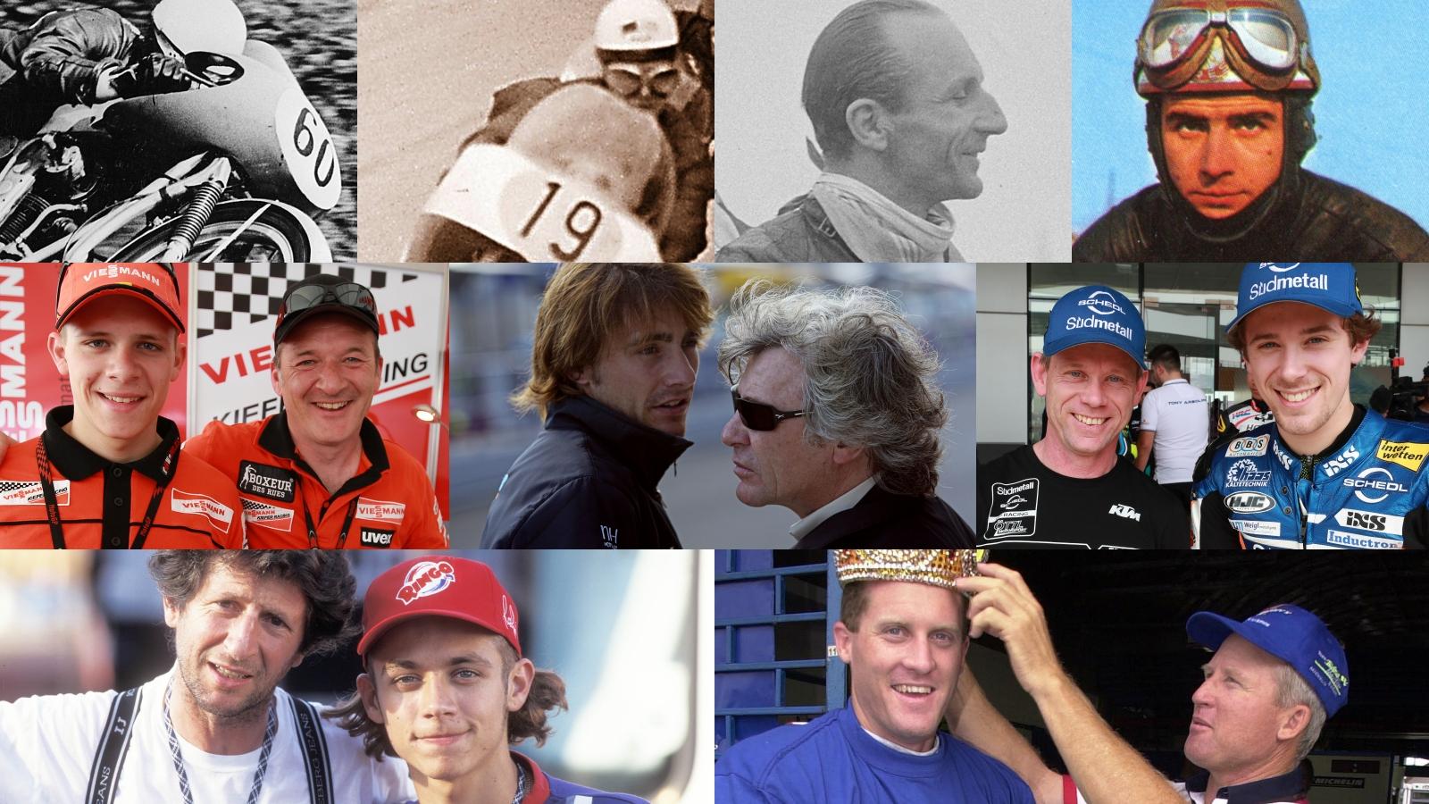 Las 7 parejas de padres e hijos que han ganado en el Mundial de motociclismo