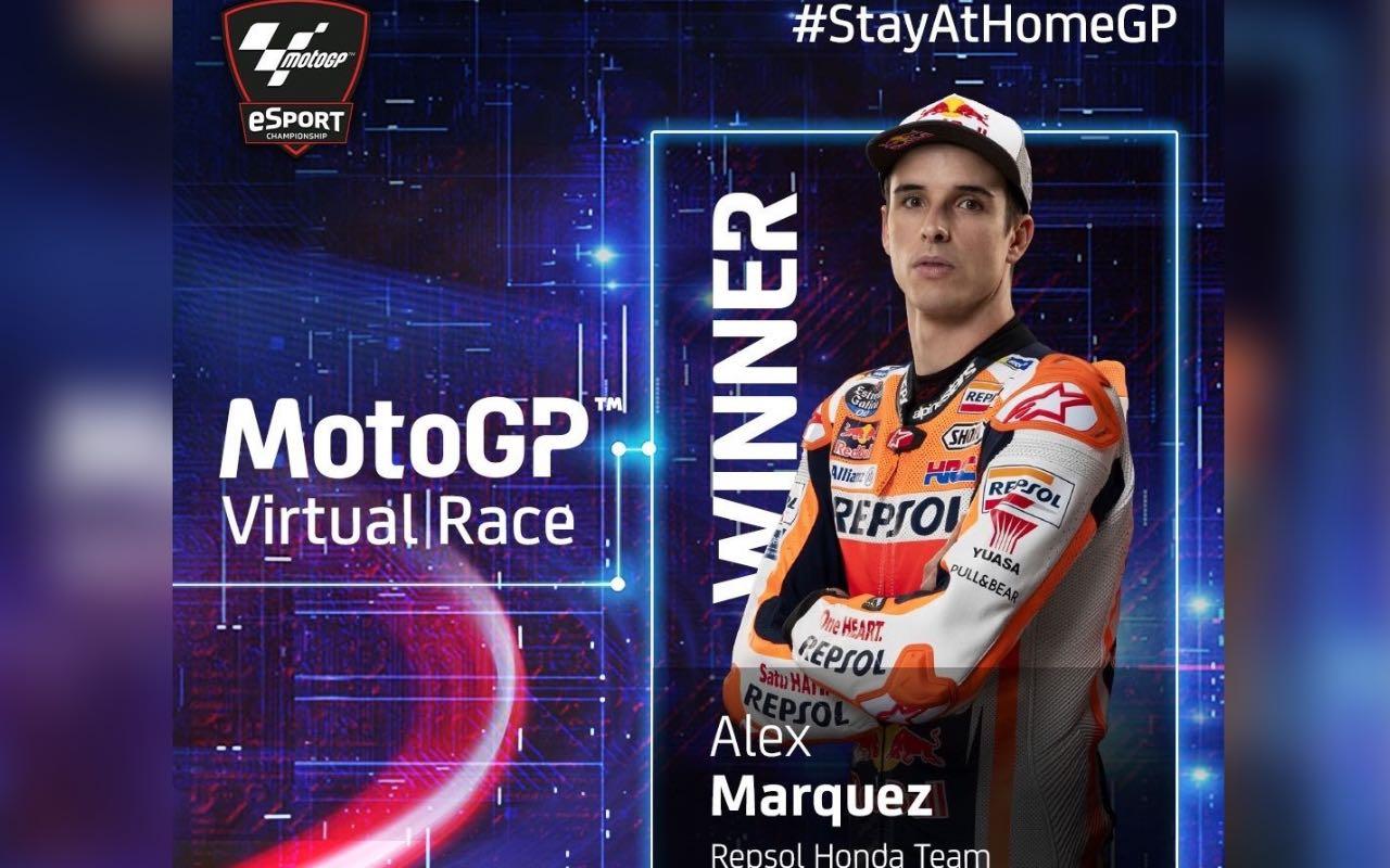 Álex Márquez gana la primera Carrera Virtual de MotoGP al imponerse en Mugello