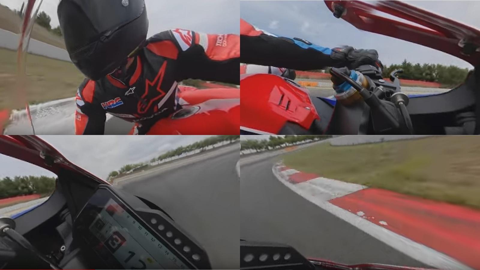 Vídeo 360º de Marc Márquez con la Honda CBR1000RR-R en Barcelona-Catalunya
