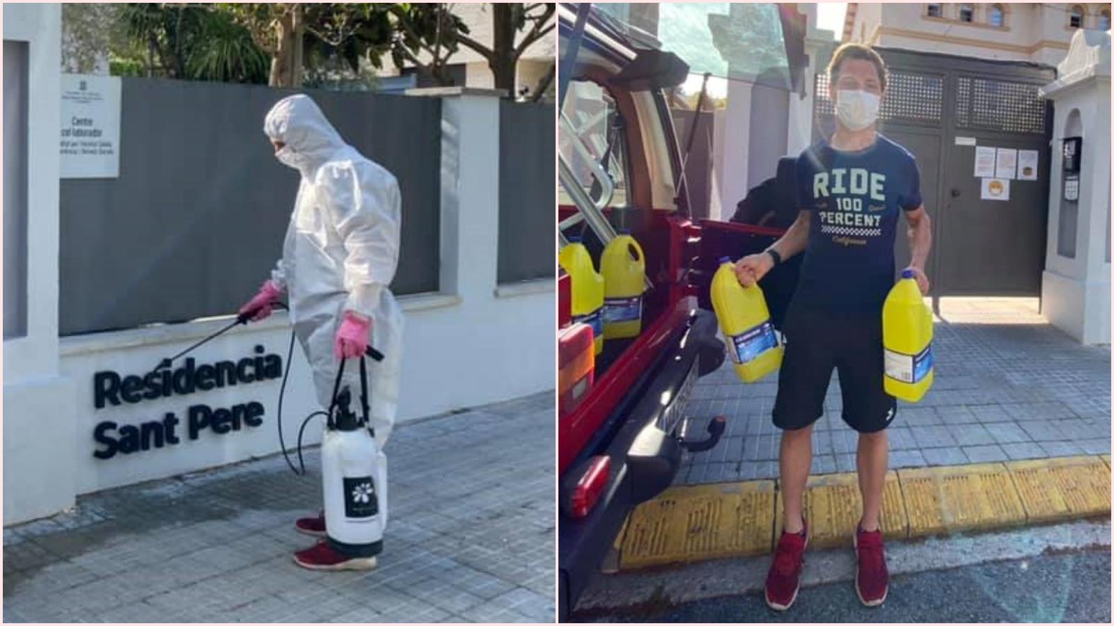 Dominique Aegerter, del Mundial de MotoGP a combatir el coronavirus en España