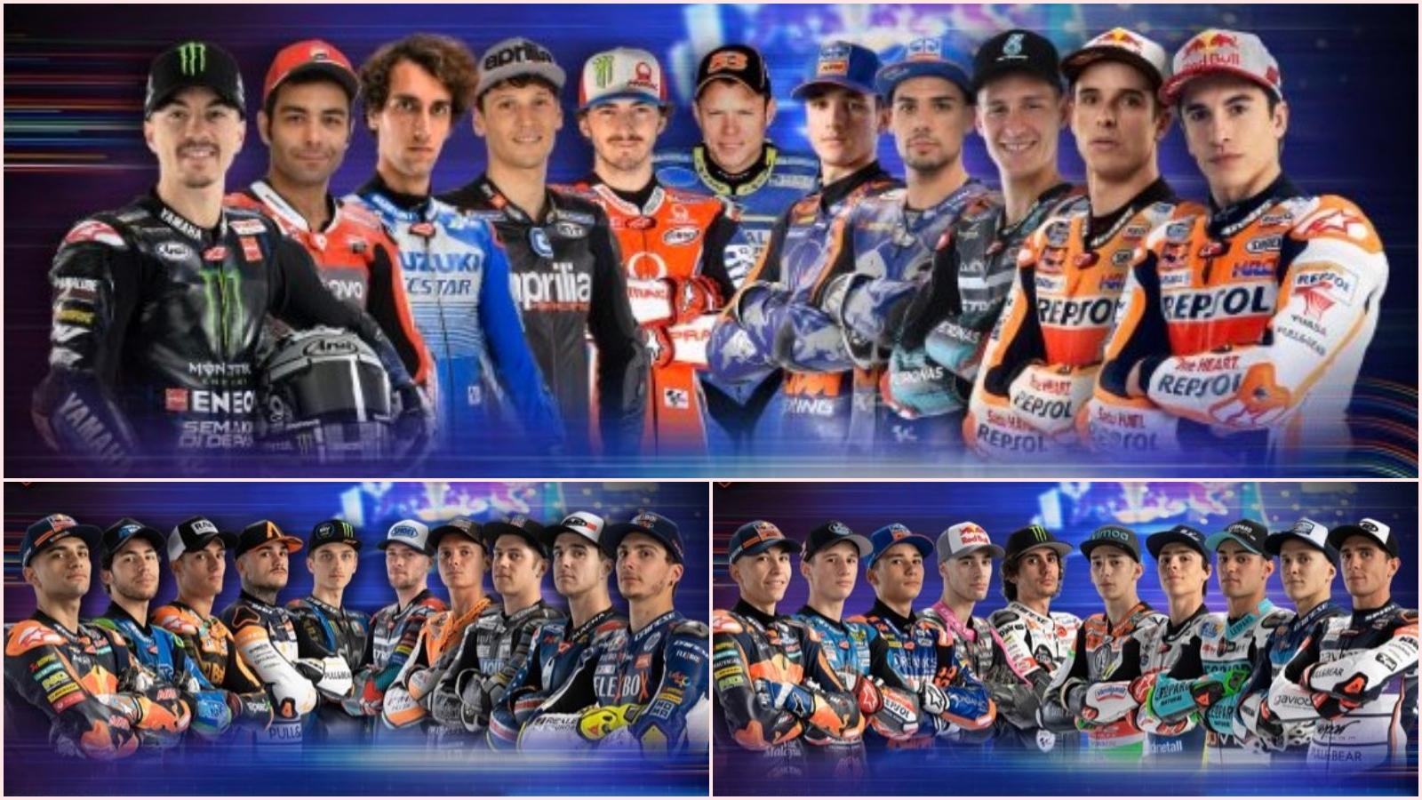MotoGP anuncia los pilotos del GP Virtual de España para MotoGP, Moto2 y Moto3