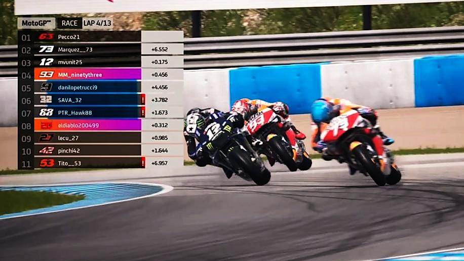 Maverick Viñales se lleva el GP Virtual en Jerez ante Álex Márquez y Pecco Bagnaia