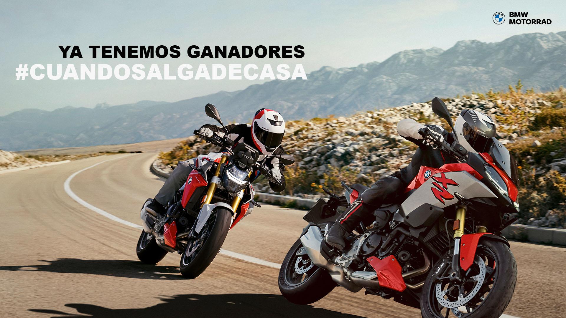 Ganadores del concurso #CuandoSalgaDeCasa con BMW Motorrad