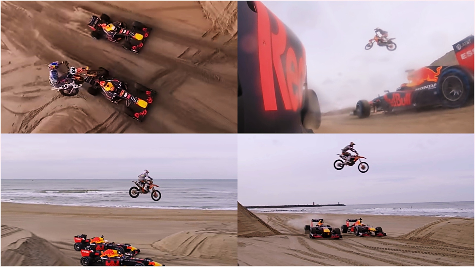 Vídeo: Jeff Herlings vuela con su KTM sobre los monoplazas F1 de Red Bull