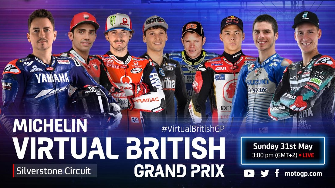 MotoGP anuncia el GP Virtual de Gran Bretaña, con Jorge Lorenzo como gran novedad