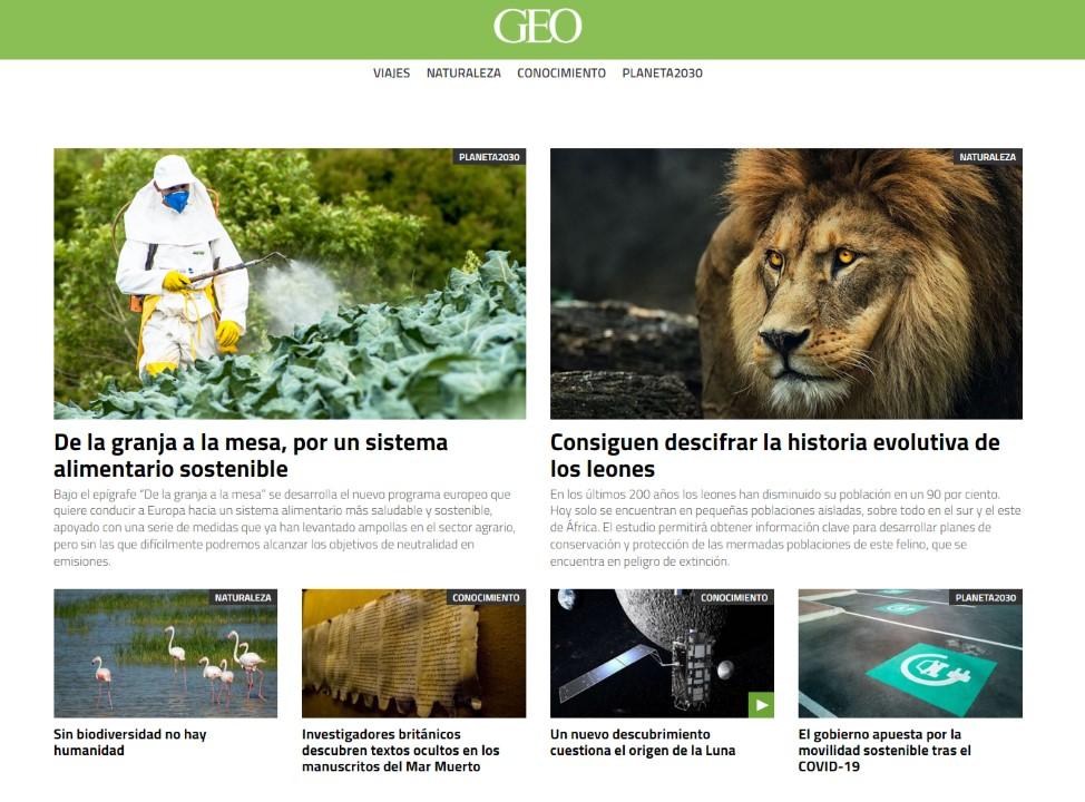 Motorpress Ibérica lanza la nueva web de GEO
