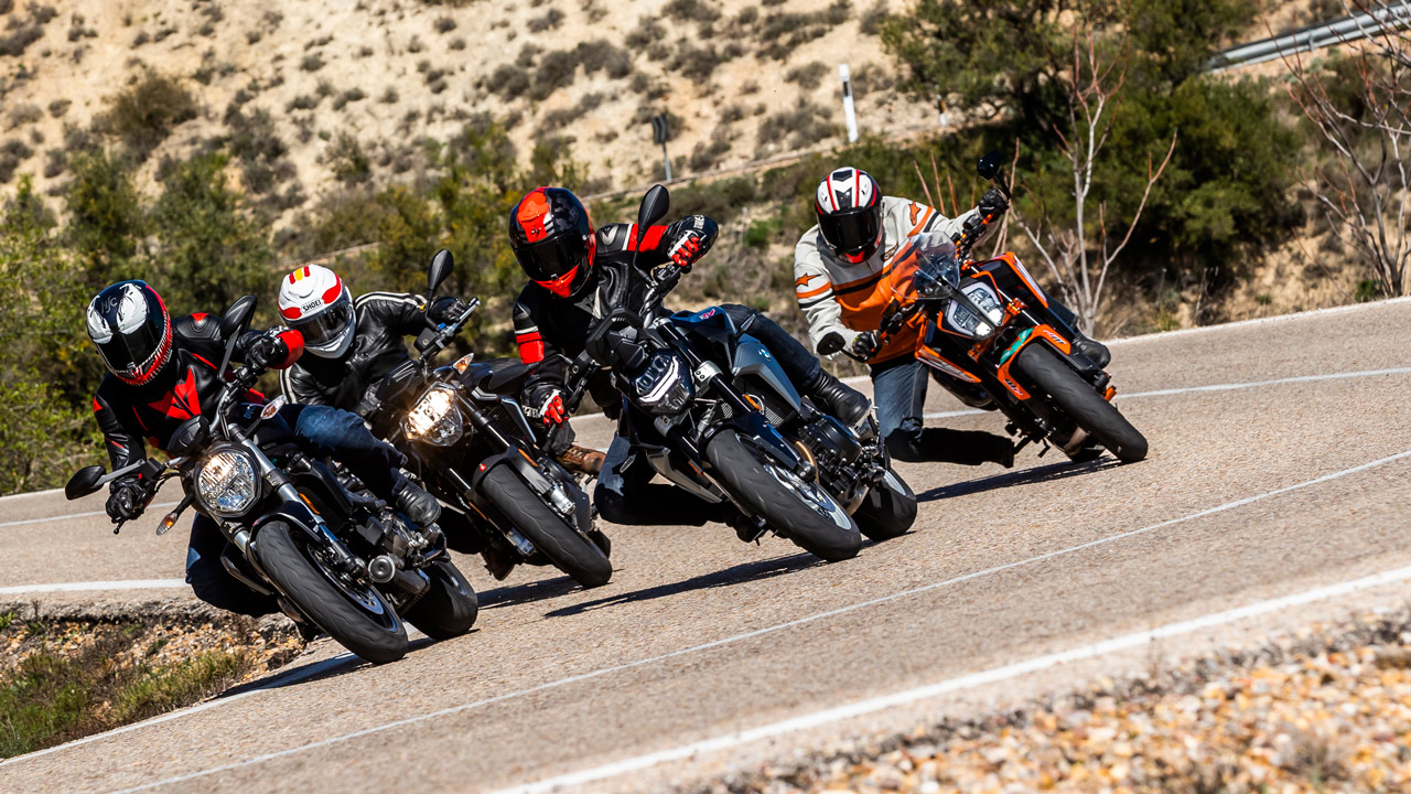 Comparativa naked europeas: Aprilia Shiver 900, BMW F 900 R, Ducati Monster 821 y KTM 790 Duke