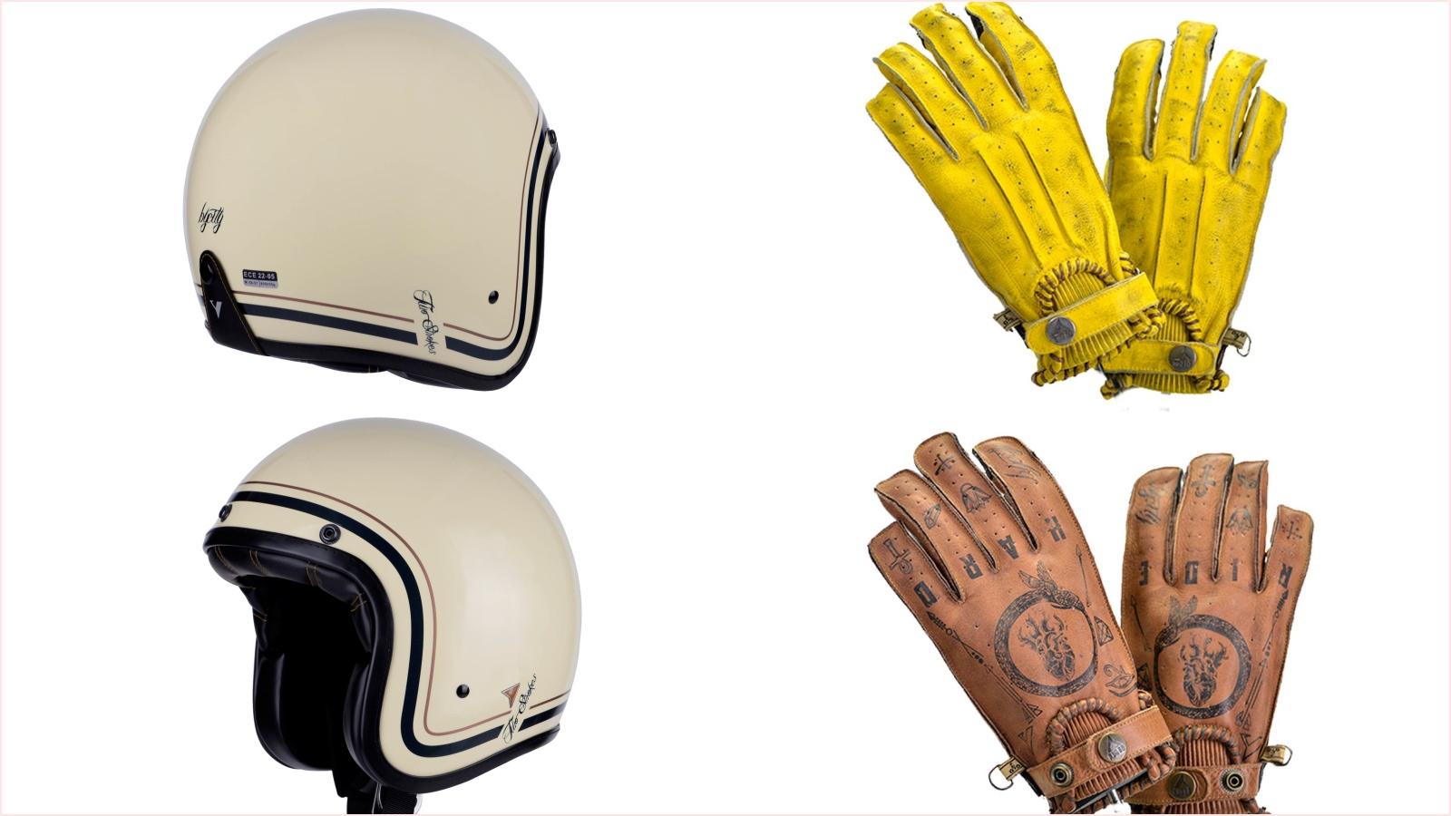 Casco Two Stroke y guantes Second Skin, estilo para la desescalada con By-City