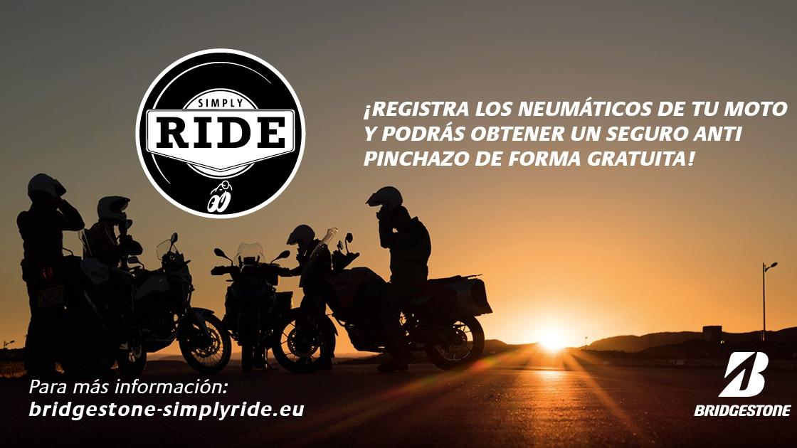 Bridgestone Simply Ride, la garantía gratuita antipinchazos para neumáticos de moto