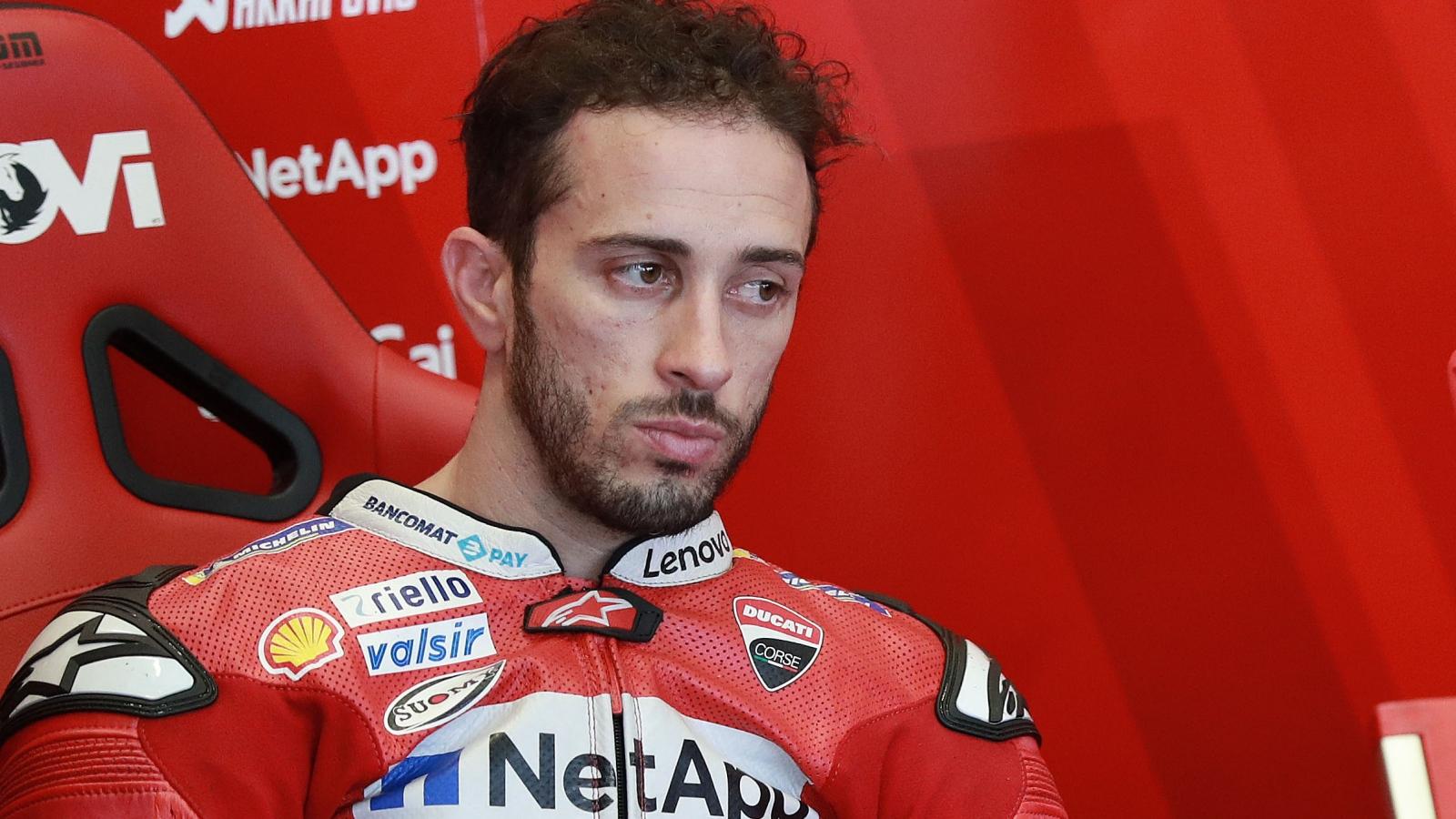 Andrea Dovizioso se fractura la clavícula y pone en peligro su histórico récord en MotoGP