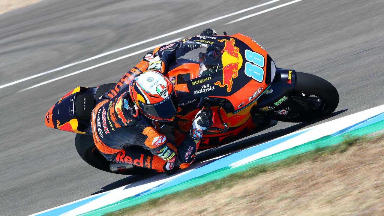 Jorge Martín es el más rápido de Moto2 en Jerez