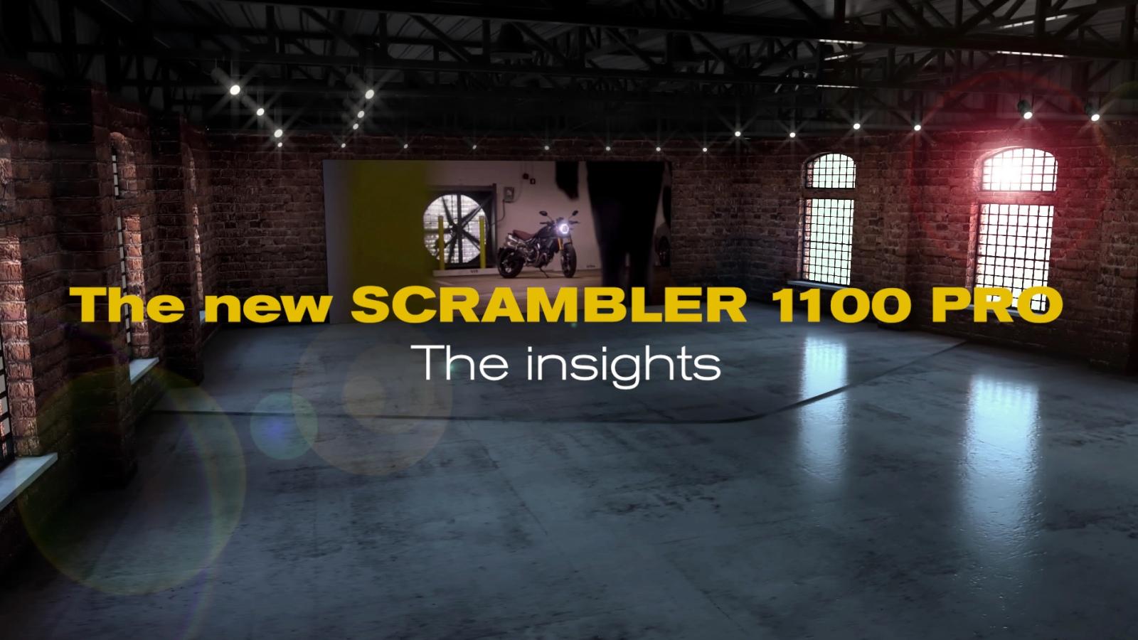 Vídeo: las Ducati Scrambler 1100 Pro y Sport Pro, en realidad aumentada