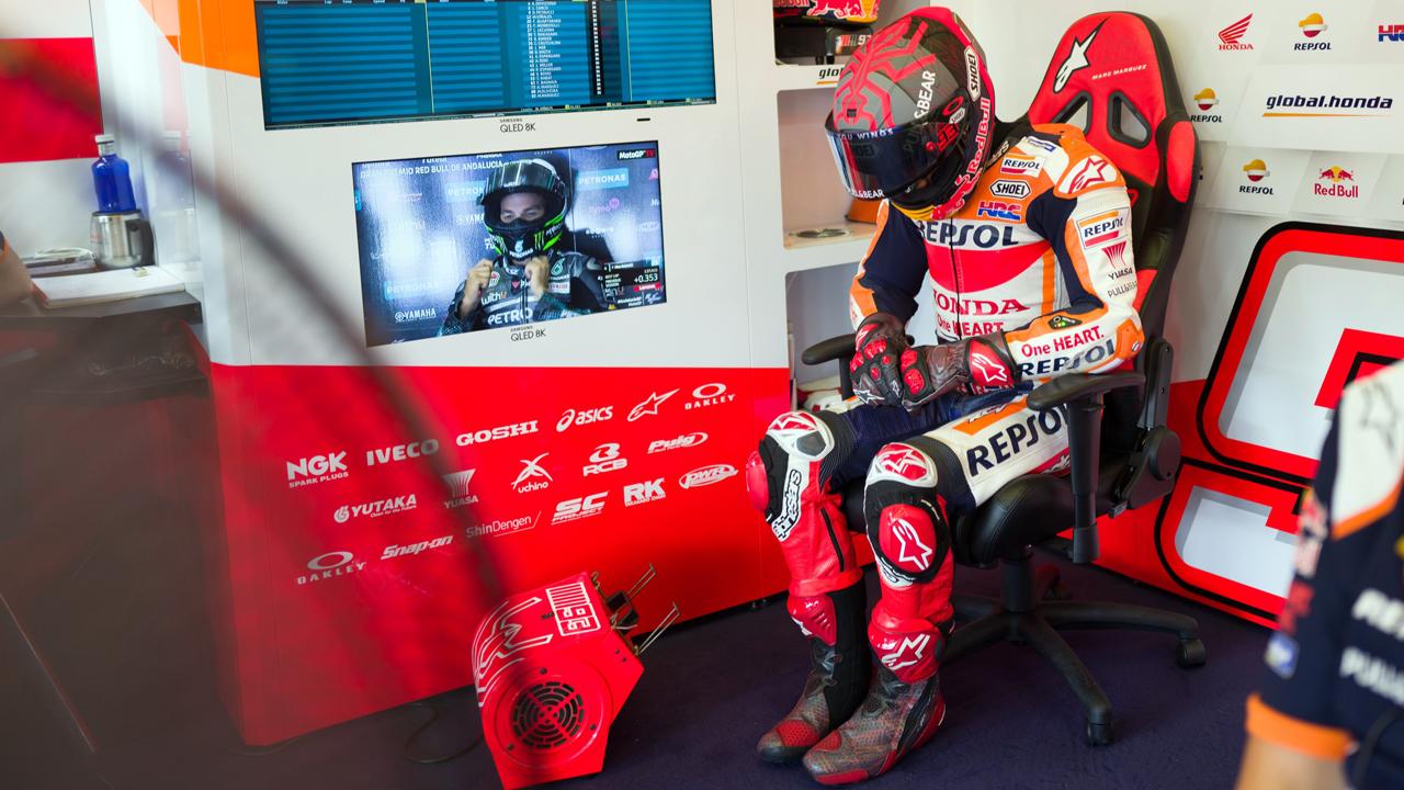 Marc Márquez se retira de la Q1 y saldrá último en carrera… si sale