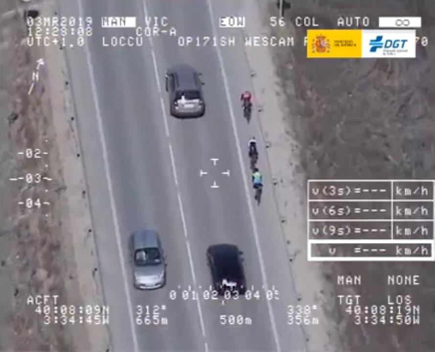 Vigilancia del tráfico en el cambio de quincena de agosto