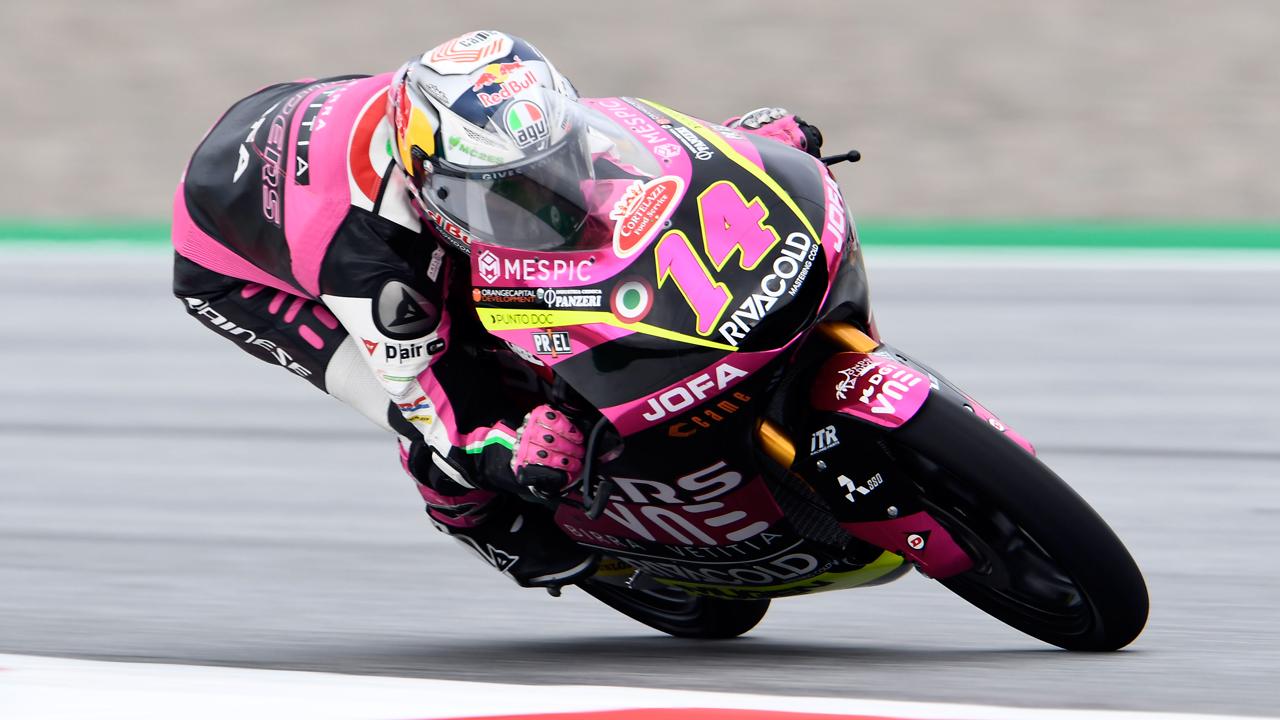 La lluvia altera los entrenamientos libres de Moto3 en Austria