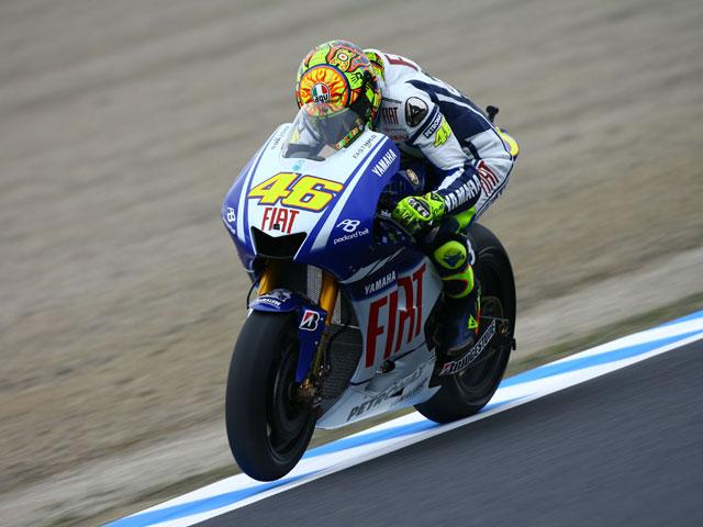 Rossi (Yamaha) golpea primero en el Gran Premio de Japón